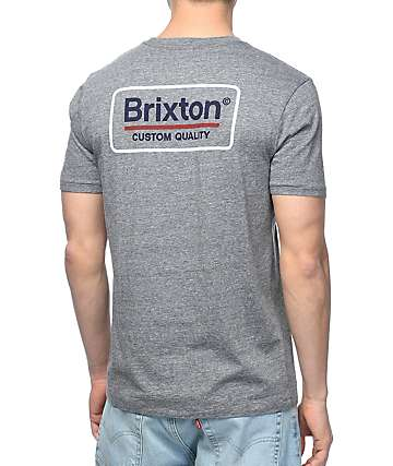 Brixton Palmer camiseta gris