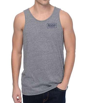 Brixton Palmer camiseta sin mangas en gris y color borgoño
