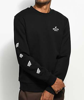 Brixton Peabody Black Crew Neck Sweatshirt