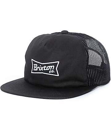 Brixton Pearson Black Trucker Hat