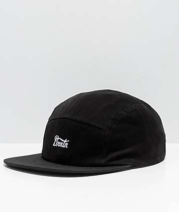 Brixton Potrero Black 5-Panel Hat