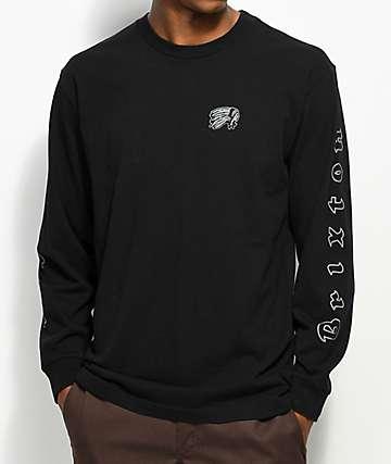 Brixton Primo Black Long Sleeve T-Shirt