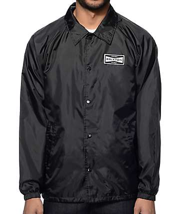 Brixton Ramsey Black Coach Jacket