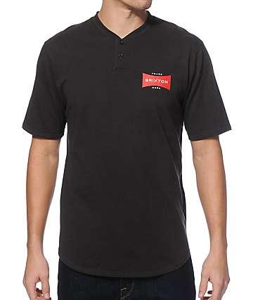 Brixton Ramsey Cotton Mesh Henley T-Shirt