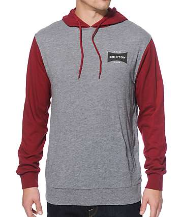 Brixton Ramsey Long Sleeve Hooded Shirt