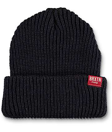 Brixton Redmond Navy & Brown Beanie