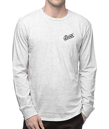 Brixton Reggie Heather Grey Long Sleeve T-Shirt