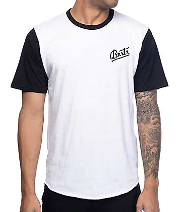 Brixton Reggie White & Black T-Shirt
