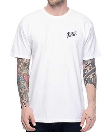 Brixton Reggie White & Black T-Shirt