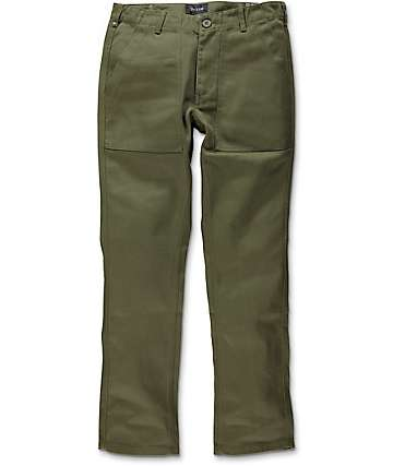 Brixton Reserve Rigid Olive Military Chino Pants