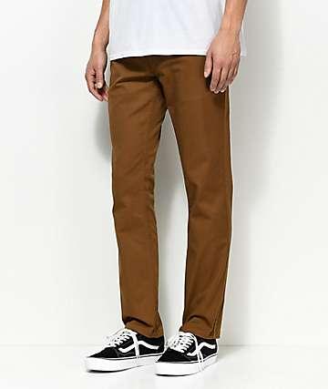 Brixton Reserve pantalones chinos en caqui oscuro