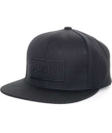 Brixton Rift Jet Black Snapback Hat
