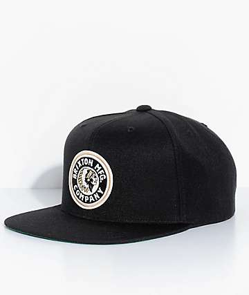 Brixton Rival Black & Gold Snapback Hat