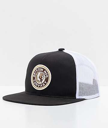 Brixton Rival Black & White Trucker Hat