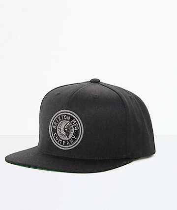 Brixton Rival Black Snapback Hat