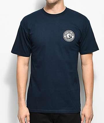 Brixton Rival II Navy T-Shirt