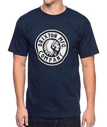 Brixton Rival Navy T-Shirt