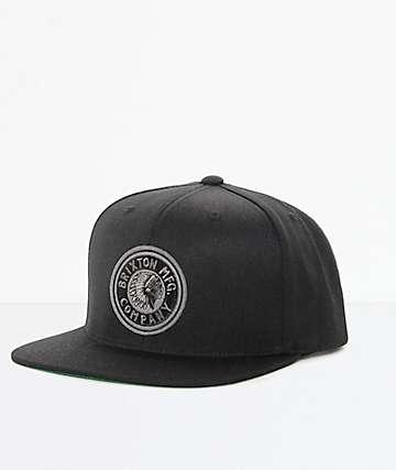 Brixton Rival gorra snapback en negro