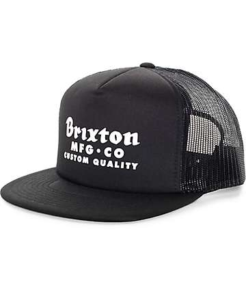 Brixton Sadler Black Trucker Hat