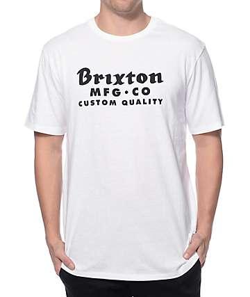 Brixton Sadler White Premium T-Shirt