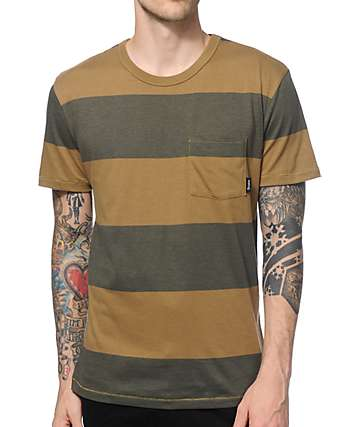 Brixton Segundo Stripe Pocket T-Shirt