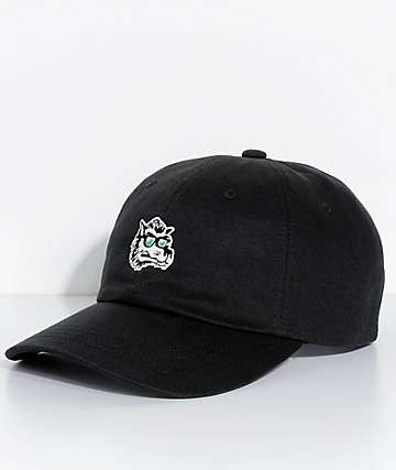 Brixton Sleeper Wolf Black Strapback Hat