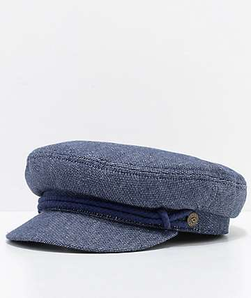 Brixton Small Fiddler Blue Denim Hat