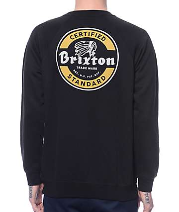 Brixton Soto Black Crew Neck Sweatshirt