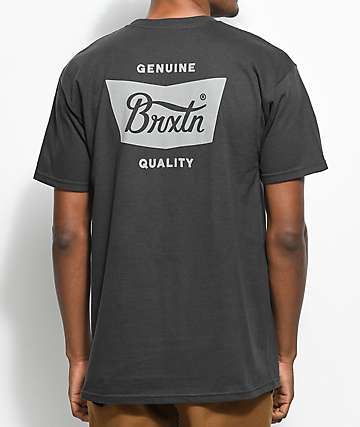 Brixton Stith Black Washed T-Shirt