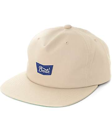 Brixton Stith II Khaki Unstructured Snapback Hat