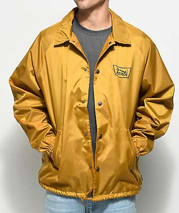 Brixton Stith Mustard Coaches Jacket