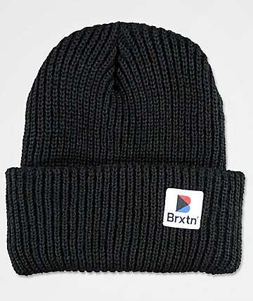 Brixton Stowell Black Cuff Beanie