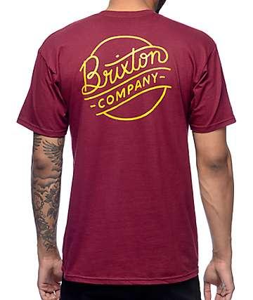 Brixton Sunder Burgundy T-Shirt