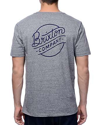 Brixton Sunder Heather Grey Premium T-Shirt