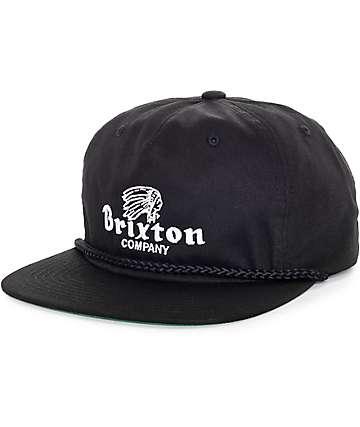 Brixton Tanka Black Snapback Hat