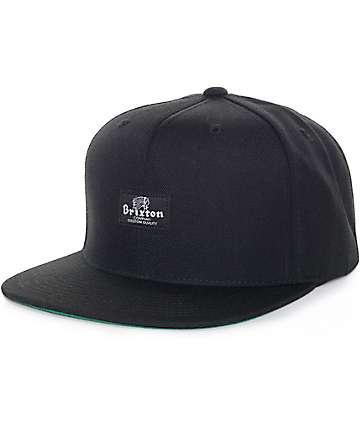 Brixton Tanka II Black Snapback Hat