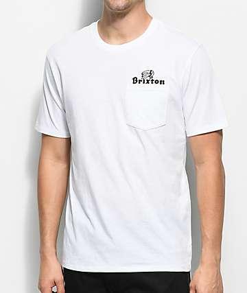 Brixton Tanka II Premium camiseta blanca con bolsillo