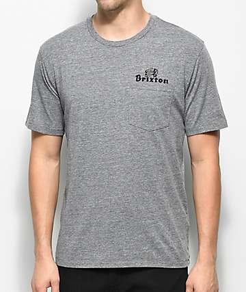 Brixton Tanka II Premium camiseta gris con bolsillo