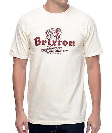 Brixton Tanka Off White T-Shirt