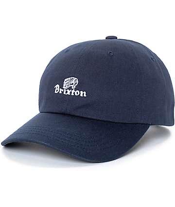 Brixton Tanka Unstructured Navy Strapback Hat