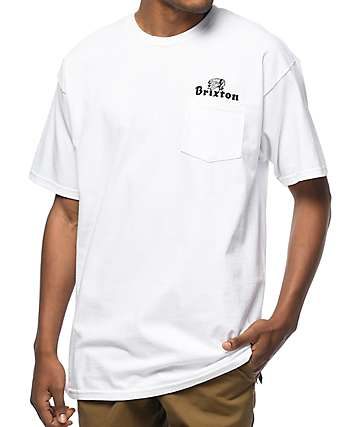 Brixton Tanka White Pocket T-Shirt