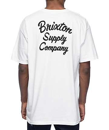 Brixton Thrift White & Black T-Shirt