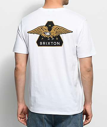 Brixton Turret White Premium Pocket T-Shirt