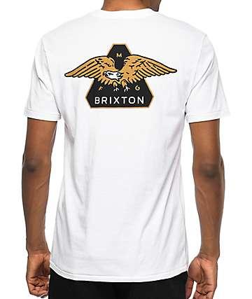 Brixton Turret camiseta blanca con bolsillo