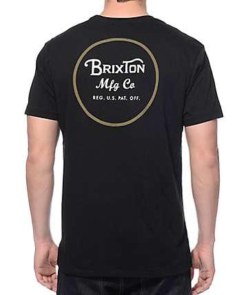 Brixton Wheeler Black Premium T-Shirt