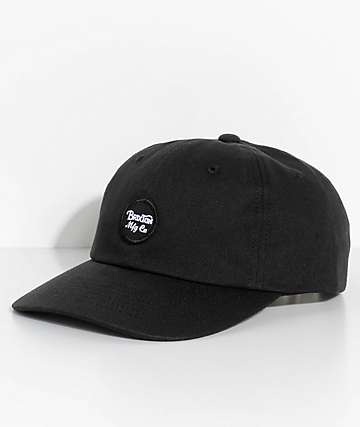 Brixton Wheeler Black Strapback Hat