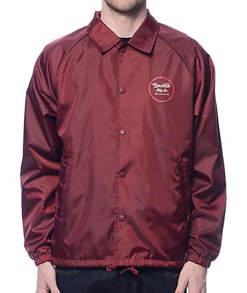 Brixton Wheeler Burgundy Coach Jacket