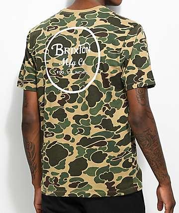 Brixton Wheeler Camo T-Shirt