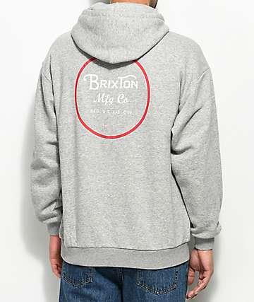 Brixton Wheeler Grey Hoodie