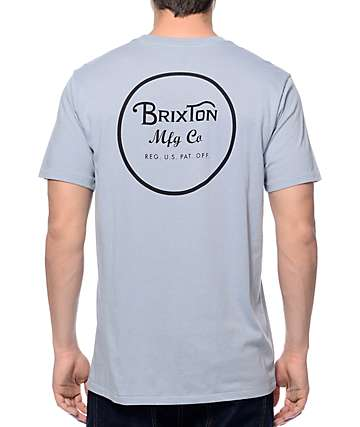 Brixton Wheeler Light Blue Premium T-Shirt